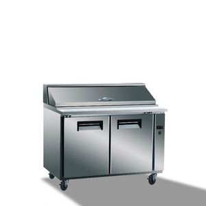 Stainless steel salad fridge/ pizza refrigerator/ sandwich prep table