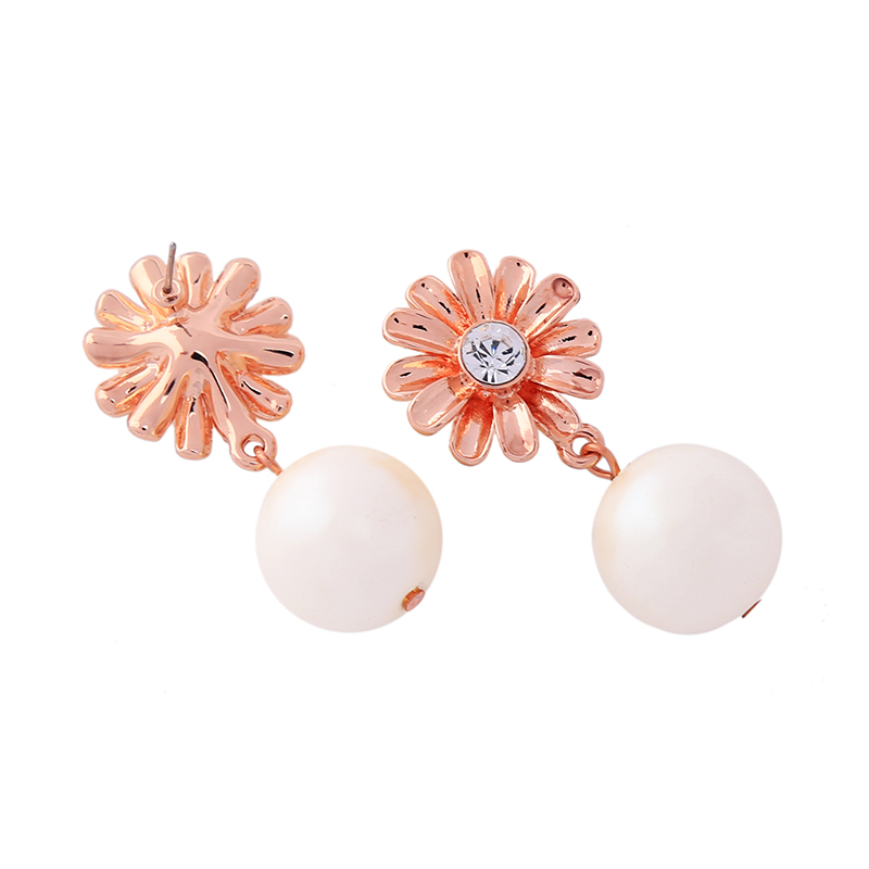 ed00861b Free Shipping Wholesale Fashion Handmade Jewelry Trends Women Pearl <strong>Rose</strong> Small <strong>Flower</strong> <strong>Earrings</strong>