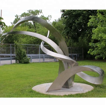 Outdoor Modern Large Stainless Steel Abstract Garden Sculpture For