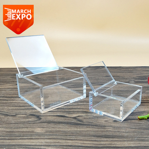 Wholesale customized cuboid plexiglass acrylic display box with lid