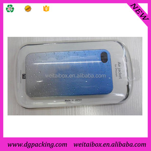 Clear PLASTIC Crystal Packaging Boxes for phone 3G 3GS 4 4S Case cover