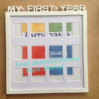 My first year baby 12 months MDF wooden collage photo picture frame