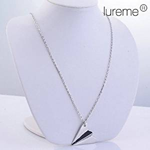 LuremeSilver Plated Alloy Paper Plane Pattern Necklace