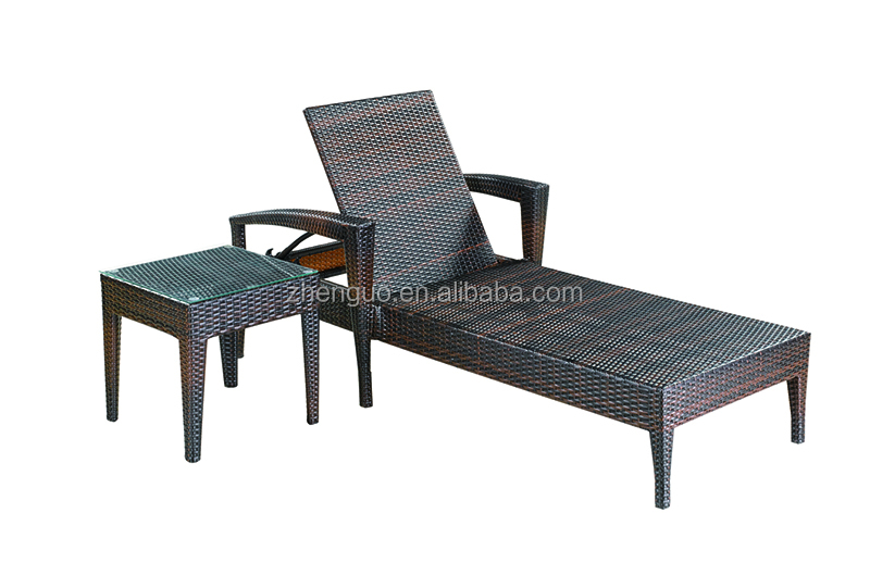Outdoor Rattan Furniture Set Sun Lounger Swimming Pool Chaise Lounge