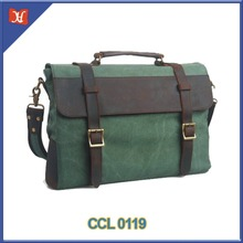 Canvas Vintage Leather Messenger Bags Cross Body messager handmade briefcase