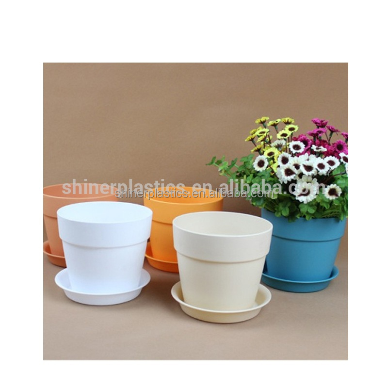 Designed Small Plastic Parts injection moulding colorful flower pots wholesale