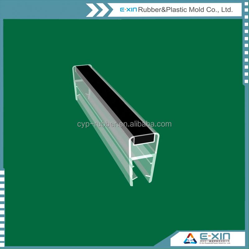 porte en verre joint imperm able l 39 eau transparente pvc bande magn tique en caoutchouc bandes. Black Bedroom Furniture Sets. Home Design Ideas