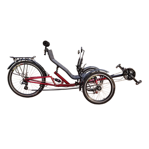 Free Import Duty Free Shipping High Quality 24 Speed Folding 3 Wheel Tadpole Recumbent Trike With Suspension