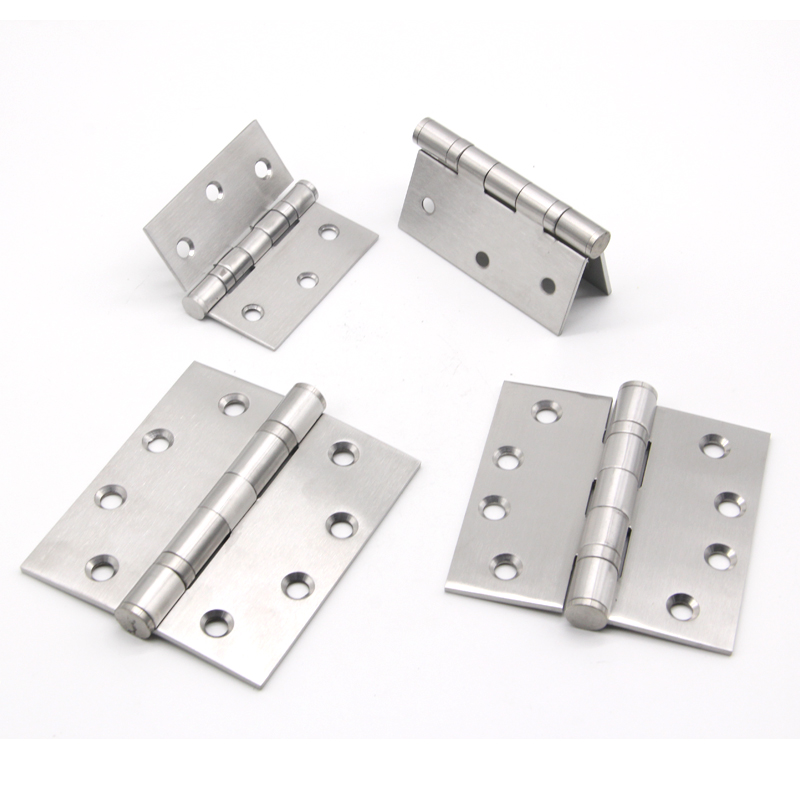 Folding Butt Hinges Silver Tone Home Furniture Hardware Door Hinge with Screws