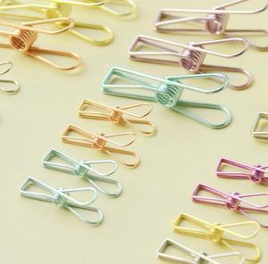 Metal hollow clamp simple metal vintage fish paper clips small