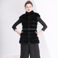 wholesale fashion women mink fur vest