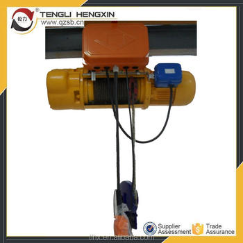 Wire Rope Heavy Lifting Equipment Electric Hoist Trolley For ...