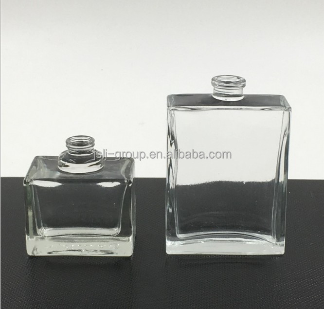 wholesale Empty Clear Square Glass 50ml perfume bottles for Sale