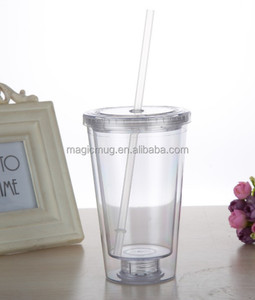 BPA free AS material Big volume plastic sports clear tumbler cups