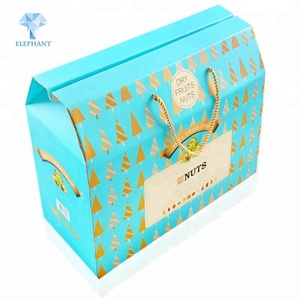 Delicate custom portable with handles wholesale corrugated die cut candy gift box