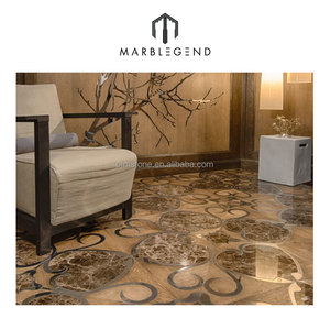 Unique customized natural wood inlay parquet laminate flooring tiles style