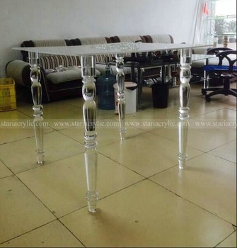 Round Acrylic Table Legs, Plexiglass Beach Legs, Lucite Chair Legs
