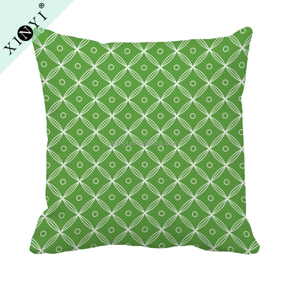 New arrival square sublimation pillow case waterproof fabric outdoor cushion cover hot selling digital printed cushion cover