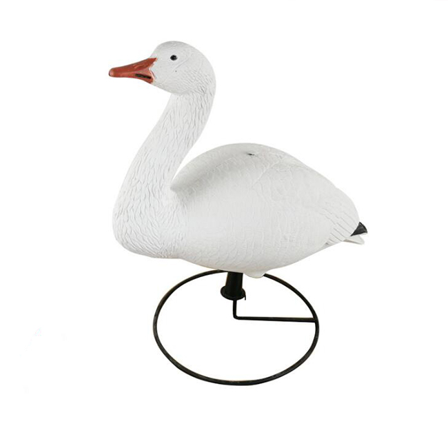 Garden decorative hunting goose decoy with iron ring