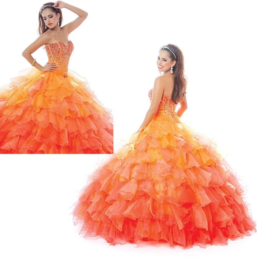 ba3dd6ac3b Get Quotations · New Sexy Quinceanera Dress 2015 Ball Gowns With Ruffles  Beaded Organza Tulle Vestidos De 15 Anos