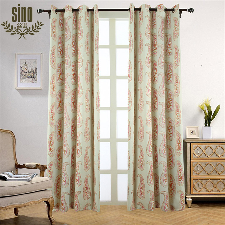 Top Sale New Style Printing Blackout Fabric Curtain