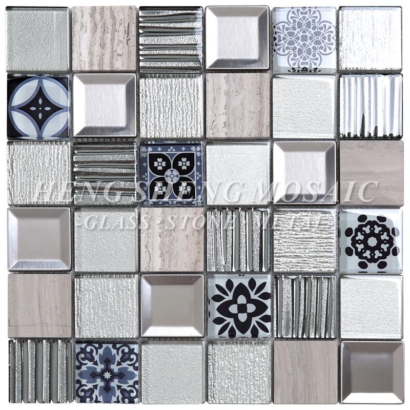 Kitchen Backsplash Wall Design Mixed Metal Ceramic Glass Mosaic Moroccan  Tiles - Buy Moroccan Mosaic Tile,Kitchen Tile,Glass Mosaic Tile Product on  ...