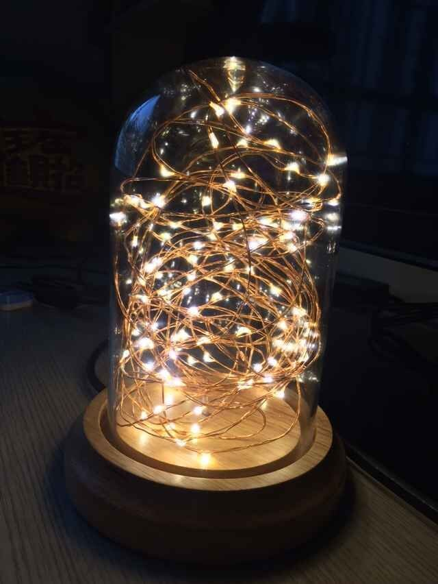 Factory Direct Sales Led String Light Glass Cloche Led