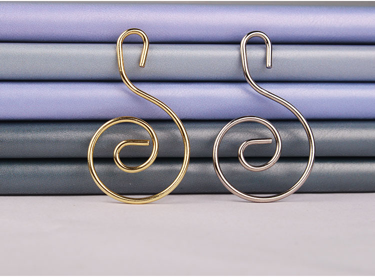 Gold rose gold christmas hook metal hooks 1.5mm wire custom size