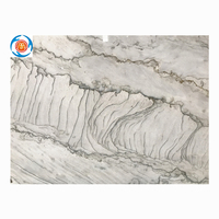 Natural white marble slabs,marble dining table set.