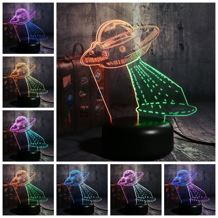 Remote Control NEW Cute My Little Horse 3D LED Night Lihgt 7 Color Mixed Dual Colors Christmas Gift for Kid Table Lamp Novelty