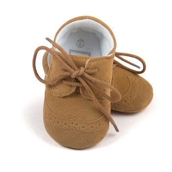 Romirus Lace-up Baby Moccasins Pu Suede