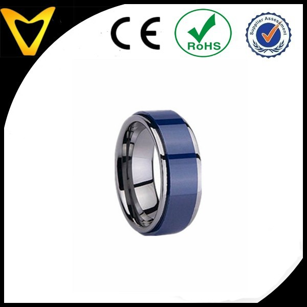 Dark Blue Color Ceramic Tungsten Ring Lord rings Popular Jewelry,lord of the men's rings jewelry