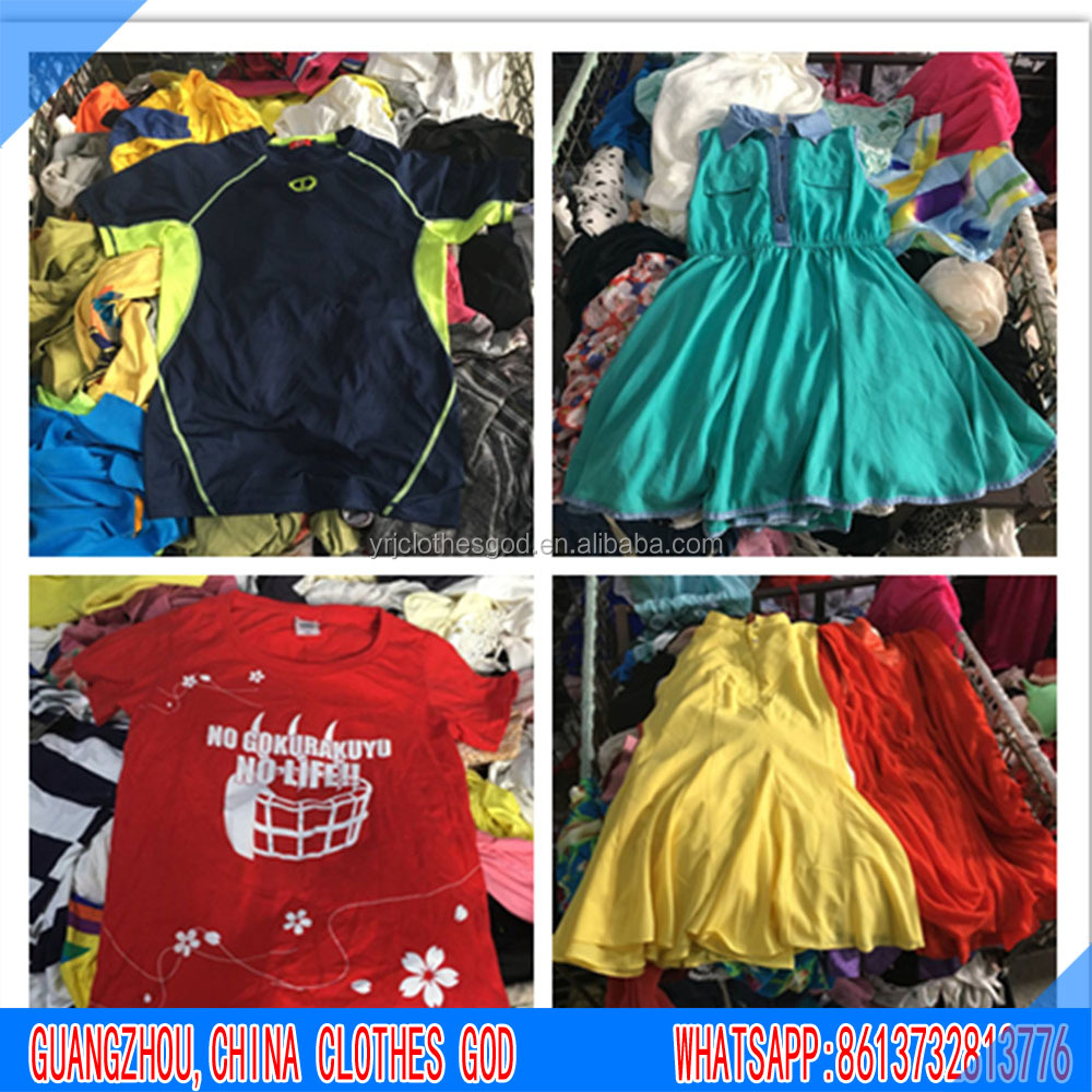 High quality cheap summer used clothes used shoes used bags from china guangzhou in bales on sale