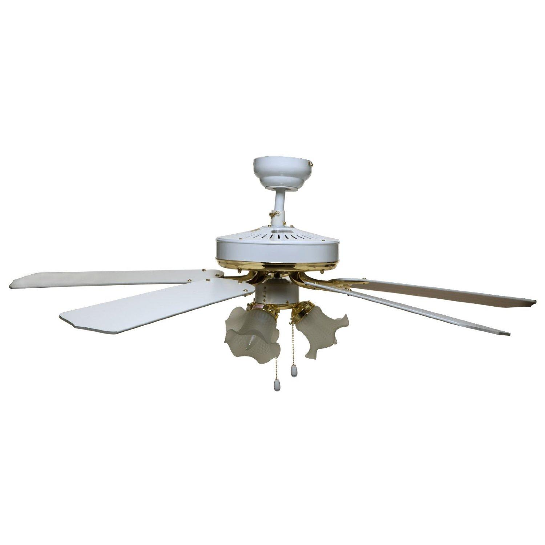 White 52-Inch Bala 283013 Dual Mount Ceiling Fan with Bowl Light Kit