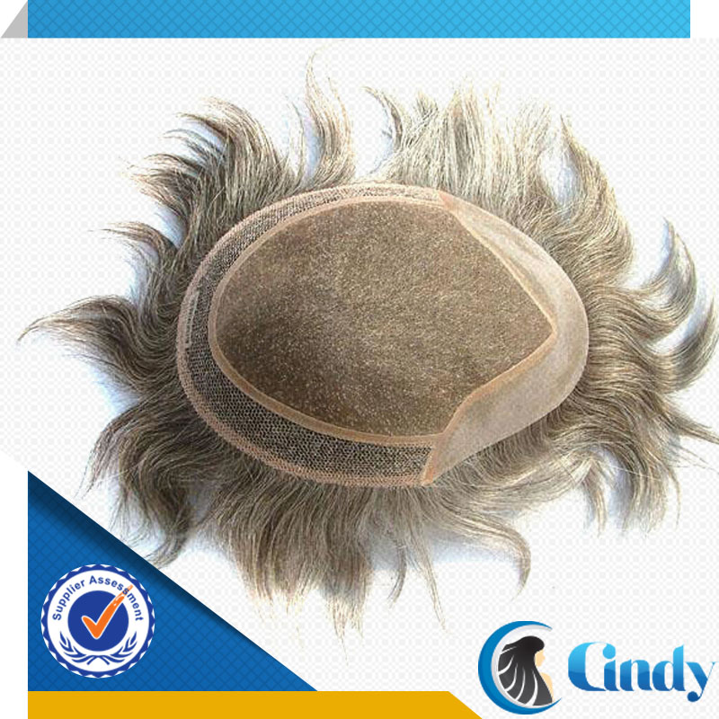 cheap natural brazilian human swiss lace hair system wholesale for men