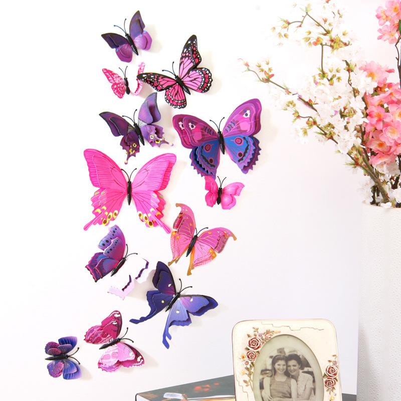 Finden Sie Hohe Qualität 3d Schmetterling Wand Aufkleber Spiegel ...