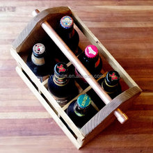 hot sales wooden wine bottle carriers