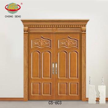 Main door models decorative double wood door carved buy for Main door model