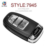 AK008014 PCF7945AC 3 Button wireless Remote control hotsale folding car key for Audi