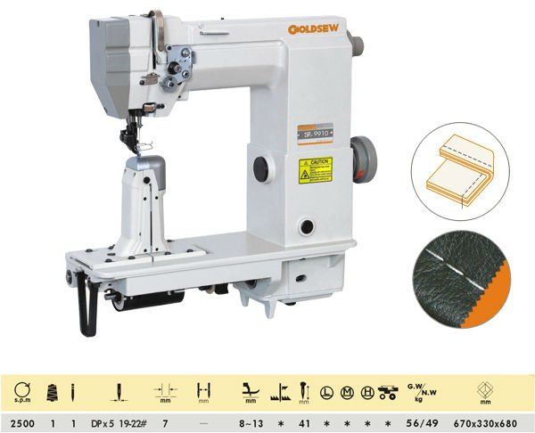 Sr-9910 Single Needle Sewing Machine Post Bed Industrial Sewing ...