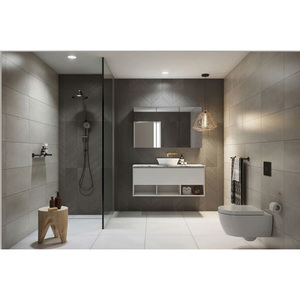 2019 Hangzhou Vermont Modern Vanity White Black Wall Hang Bathroom Sink Cabinet With