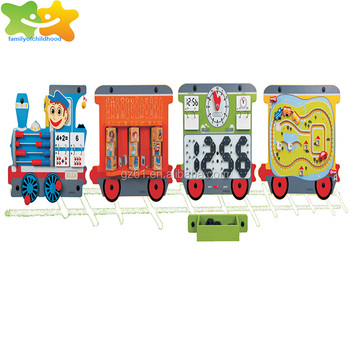 Intelligent train type metope educational toys for classroom