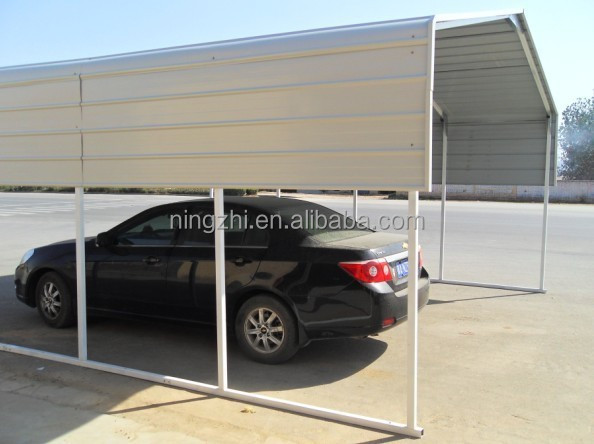 Singolo in acciaio posto auto coperto telaio for 2 costo aggiuntivo garage per auto