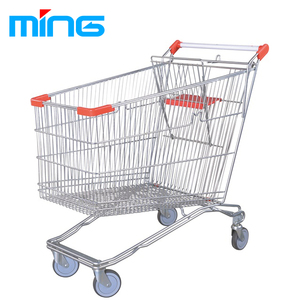 Large supermarket wire german shopping trolley