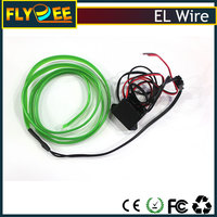 Hotsale white EL Product Flexible EL Backlight glasses High Hightness EL wire with controller