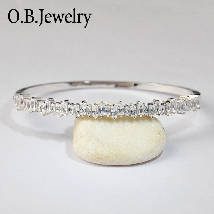 OB Jewelry-2019 New Arrivals Wrist Jewelry Gold Plating Copper Marquise Women Bangles
