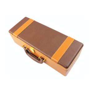 Luxury PU leather wine box carrier / Portable MDF wooden wine box case with handle