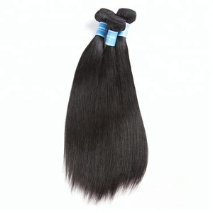 Grade 7A 9A Straight Remy Virgin Peruvian Human Hair Weaving 3Pcs 4Pcs Lot With 4X4 Silk Base Lace Closure