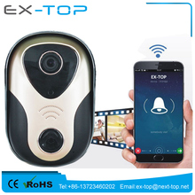 180 Degree Front Door Peephole Smart Home Motion Detection P2P Remote control Wireless CCTV Onvif IP Video Wifi Doorbell Camera