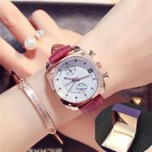 Модные брендовые женские часы Unsex, роскошные часы из стали и кожи розового золота, часы с календарем и квадратным циферблатом, водонепроница...(Китай)